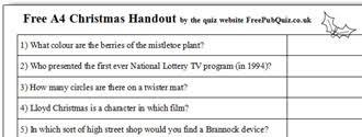 printable quizzes uk free christmas quizzes free christmas quiz handout