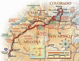 Navajo Reservation Map Four Corners Map Four Corners Atlas Wall Map Mapscom National