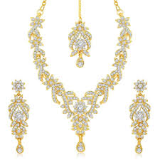 trendy necklace sets images Sukkhi trendy gold plated australian diamond stone studded jpg