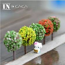 5pcs mini artificial trees crafts micro garden figurine