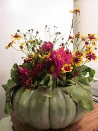Fall Table Arrangements How To Create Fall Flower Arrangements In Handmade Pumpkin And