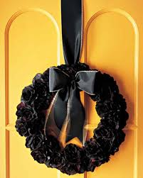 halloween silk flower wreath martha stewart