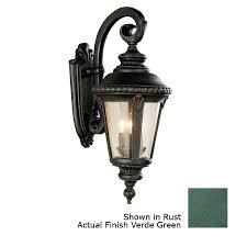 verde green outdoor wall light shop portfolio verde green outdoor wall light at lowes com