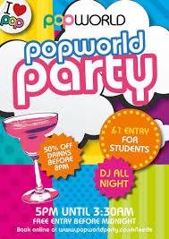 popworld friday night party friday 20th october