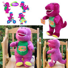 1pc 32cm singing barney dinosaur soft bear doll plush kids