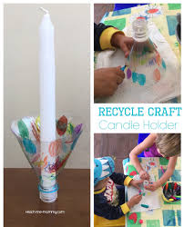 recycle craft candle holder teach me mommy