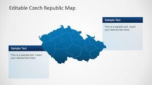 Map Of Czech Republic Czech Republic Powerpoint Map Slidemodel