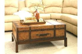 Coffee Tables Chest Trunks Wood Trunk Coffee Table Chest Tables Excellent Brown