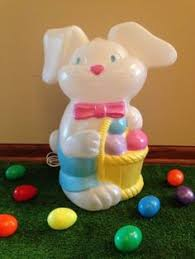 Easter Yard Decorations For Sale by Don Featherstone Blow Mold Easter Yard Decoration Bunny Rabbit