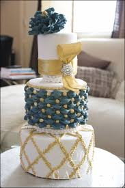 gold and turquoise wedding cake cakecentral com