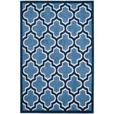 Navy And White Outdoor Rug 6 X 9 Water Resistant Blue Outdoor Rugs Rugs The Home Depot