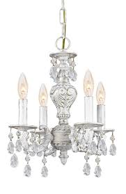 Mini White Chandelier Buy 4 Lights Antique White Crystal Chandelier