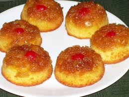 food memories 99 tiny pineapple upside down cakes inverted