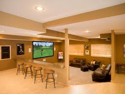 Modern Media Room Ideas - lounge worthy basements after family room area elegant design