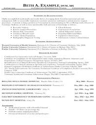 veterinary technician resume objective veterinary assistant resume