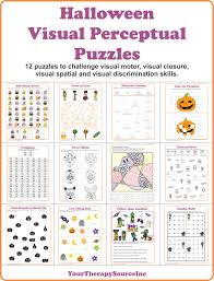 halloween puzzle printable visual closure archives your therapy source