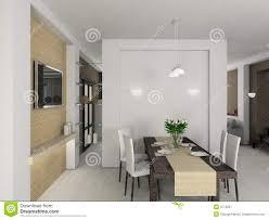 sala pranzo moderna 3d rendono l interiore moderno della sala da pranzo immagine stock