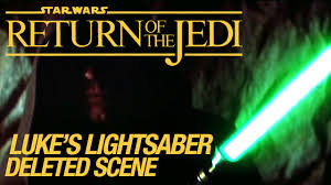 Green Or Blue Star Wars Vi Return Of The Jedi Deleted Scene Luke U0027s Lightsaber