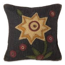 country style wool sunflower pillow sturbridge yankee workshop