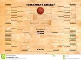 basketball tournament bracket on wood gym floor stock photography