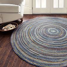 Braided Throw Rugs Greenwood Braided Area Rug Oval Round Colorful Blue Red Brown