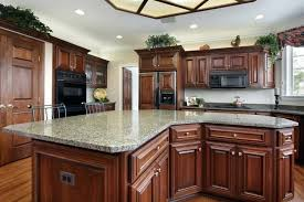 white and cherry kitchen cabinets