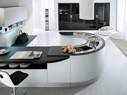 kitchen designs with curved islands