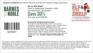 Barnes Noble Online Coupon Save 30 On Elf On A Shelf