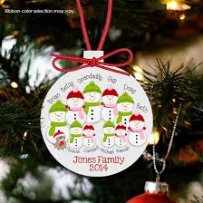 ornament snowman large family personalized