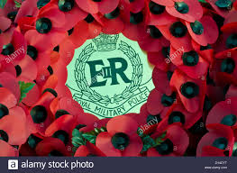 wreath of poppy s from the royal military police on remembrance