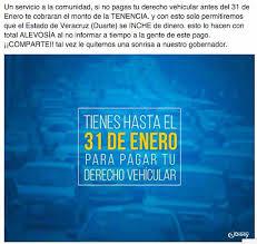 monto a pagar de tenencia 2016 30 de abril fecha límite para pagar derechos vehiculares con