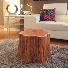 Tree Stump Side Table Coffee Tables Tree Stump Side Table Diy Tree Stump Table For