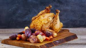 Roast Whole Chicken Ayesha Curry U0027s Upright Roasted Chicken Recipe