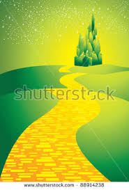 follow the yellow brick road stock images royalty free images