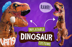 T Rex Costume Inflatable Dinosaur Costume Air Filled Dino Disguise