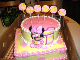 minnie mouse 1st birthday cakes decorations u2014 all home ideas and