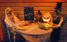 good golly ms molly halloween decorations and felt skull