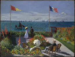 Garden Art Pole Claude Monet Garden At Sainte Adresse The Met