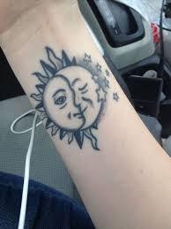 designer sun and moon on wrist small moon wrist