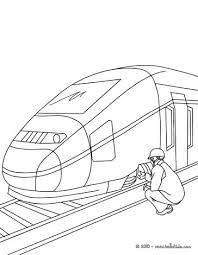 mechanic repairing a high speed train coloring pages hellokids com