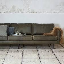 sofa 3 sitzer leder bepurehome 3 sitzer sofa rodeo armee grünes leder 85x277x86cm