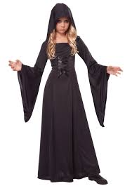 u0027s deluxe black hooded robe girls halloween costumes