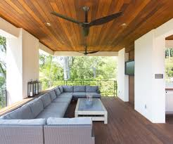 farmhouse ceiling fan patio contemporary with rattan outdoor sofa