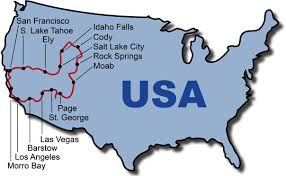 san francisco map of usa motorcycle tours best of west usa bike tour