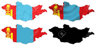 Mongolia Flag Mongolia Flag Over Map Collage Stock Photo Picture And Royalty
