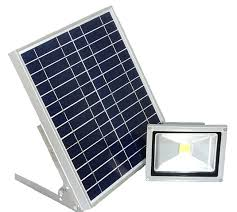 led light solar panel with integrated outdoor