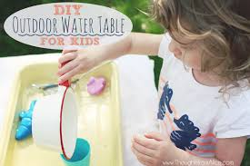 Water Table Toddler Diy Outdoor Water Table For Kids