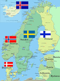 Iceland On Map The 5 Scandinavian Countries Iceland Norway Finland Sweden And