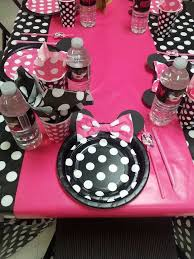 Pink And Black Minnie Mouse Decorations 88 Best Minnie Mouse Party Images On Pinterest Mouse Parties