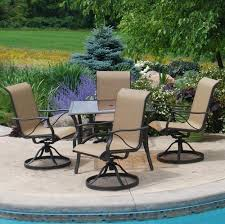 Menards Outdoor Patio Furniture Backyard Creations Somerset 5 Piece Dining Patio Set At Menards